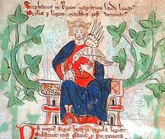 """Stephen of Blois, King of England.  Stephen's reign was marked by """"the Anarchy,"""" a civil war with his cousin and rival, the Empress Matilda, the daughter of King Henry I. When Stephen died in 1154, Matilda's son became King Henry II."""