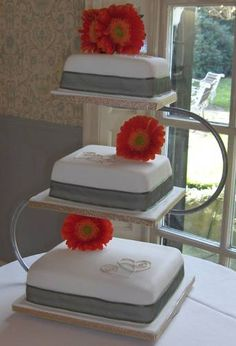 wedding cake stand three tiers square more