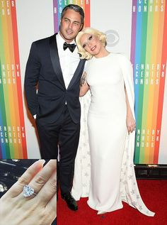 Lorraine Schwartz - Lady Gaga and Taylor Kinney - 6-carat engagement ring with a heart-shaped diamond