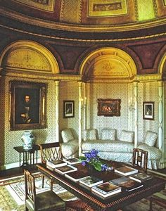 The Domed Room of the Gloucestershire estate, Daylesford as decorated by Renzo Mongiardino for Baron Thyssen-Bornemisza. Photo by Christopher Simon Sykes for HG.