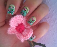 Cherry Blossom, Nailart, Crochet