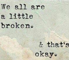 & that's okay.