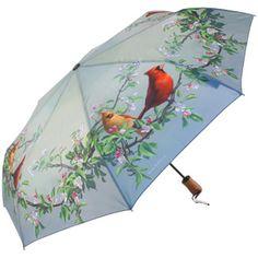 Hautman Brothers Art Print Auto Open & Close Folding Umbrella - Cardinals