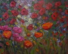 Original artwork from artist Dee Sanchez on the Daily Painters Gallery Art Paintings For Sale, Original Paintings, Flora Flowers, Flower Art, Poppies, Vines, Art Photography, Daisy, Wallpaper
