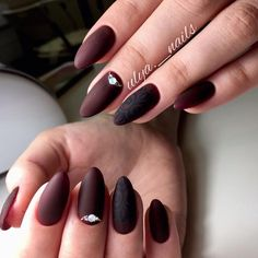 Beautiful evening nails, Brown matte nails, Evening nails, Fall matte nails, Fall nails 2016, Fashion autumn nails, Fashion matte nails, Ideas of matte nails