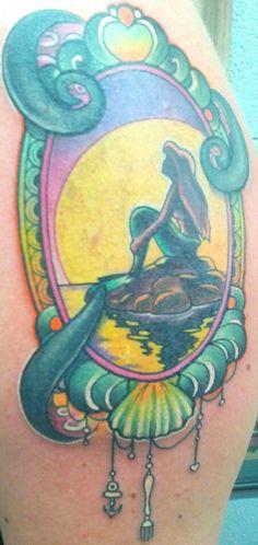 little mermaid tattoo! #Ariel #Disney