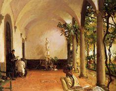 Villa Torre Galli The Loggia - John Singer Sargent