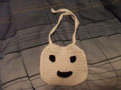 crochet ghost bib