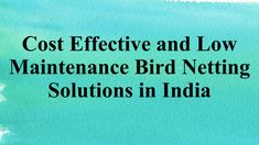Bird Netting is a perfect solution for pigeon prevention. It does not harm the bird. It is safe for the bird. For more info about pigeon protection net, bird proofing solutions, industrial bird netting, pige. Bird Netting, India