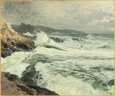 "Frederick Judd Waugh (American, 1861-1940) ""Great Manan Coast"""