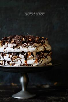 Russian Snickers and Brownie Fruit Pavlova