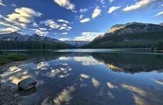 Two Jacks lake in Banff National Park, Alberta, Canada