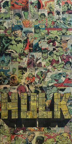Hulk - Collage artwork by Mike Alcantara Hulk Marvel, Marvel Comics, Marvel Art, Marvel Heroes, Comic Collage, Collage Artwork, Collages, Catwoman, Comic Style