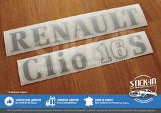 Autocollants Stickers Renault Clio 16s 1991 Renovation Monogrammes Arrière 16 S | eBay