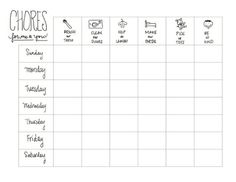 the chirping moms: Printable Kids Chore Chart: A Guest Post