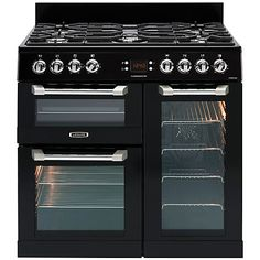 Buy LEISURE Cuisinemaster Black Electric Range Cooker With Ceramic Hob from Appliances Direct - the UK's leading online appliance specialist Electric Range Cookers, Dual Fuel Range Cookers, Gas Cookers, Cheap Cookers, 90cm Range Cooker, Fun Cooking, Food Preparation, Cooking, Home