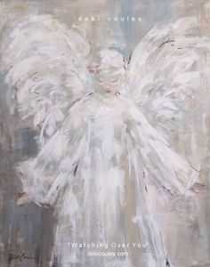"""""""Watching Over You"""" Original Painting by Debi Coules - Debi Coules Romantic Art available at www.debicoules.com"""