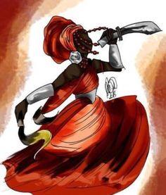 Iansã ou Oyá, é a orixá dos ventos e dos raios, que comanda as tempestades e os espíritos dos mortos , uma mulher poderosa e guerreira que vai atrás do que quer e conquista o que deseja....