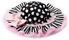 Mud Pie Tres Jolie Rick Rack Ruffle Floppy Hat