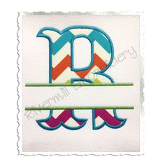 $5.95Split Carnival Applique Machine Embroidery Alphabet