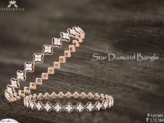 Glamour & Luxury of Lifestyle ~ Star Diamond Bangle. #diamond #bangle #lifestyle #diamondbangles #goldbangles #banglesonlineshopping #westrenbangles #casualbangles