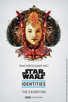 A agência canadense Bleublancrouge montou uma série de seis pôsteres com a finalidade de divulgar a exposição com o nome Star Wars: identities. Os retratos foram criados com a mistura de diversos elementos. Com um olhar um pouco mais atento é fácil perceber como cada um foi desenhado artisticamente.