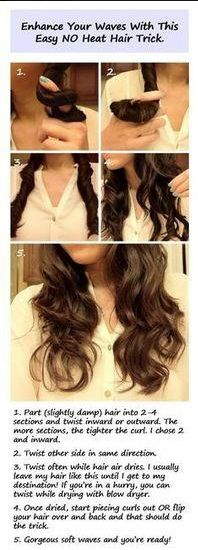 how to make wavy hair without heat