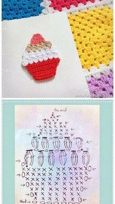 15 Ideas Crochet Amigurumi Food Cupcakes For 2019 15 Ideas Crochet Amigurumi Food Cupcakes For 2019 Food Crochet Cupcakes Cupcake Crochet, Marque-pages Au Crochet, Chat Crochet, Crochet Motifs, Crochet Diagram, Crochet Crafts, Crochet Doilies, Crochet Flowers, Crochet Stitches