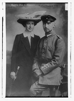 Prince Oscar and wife (LOC) by The Library of Congress, via Flickr
