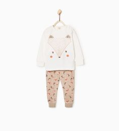Image 1 of 2-piece animal pajamas from Zara