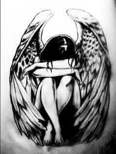 fallen angel tattoos for women - Google Search