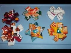 How to Make a Gift Bow from a Potato Chip Bag (could be turned into a prize ribbon)