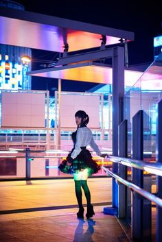 Hikaru-skirt.Japanese designer Kiyoyuki Amano combined fashion  technology to create futuristic short skirts that illuminate wearer's thighs.Aptly named 'Hikaru Skirt',which means 'Shining Skirt',comes equipped with LED lights & miniature gyro sensors on inside.Skirt lights up,& color and pattern changes every time wearer moves.Amano said placed lights inside skirt on whim,& that's when noticed that it created pleasant illumination of thighs.Gap between everyday fashion and cosplay.