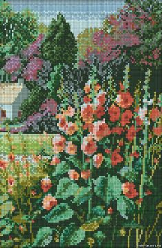 Cross Stitch Geometric, Butterfly Cross Stitch, Cross Stitch Flowers, Cross Stitch House, Cross Stitch Charts, Cross Stitch Patterns, Cross Stitching, Cross Stitch Embroidery, Embroidery Patterns
