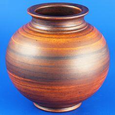 Gunnar Nylund (1930's) Elegant spherical art deco vase