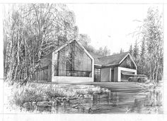 House by Bartlomiej Koter Architecture Design, Architecture Sketches, Cabin, Aga, Contemporary, Interior Design, House Styles, Drawings, Architects