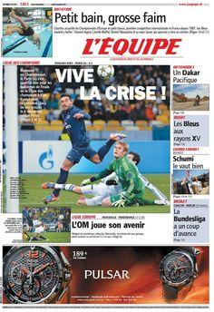 L'Equipe de hoy jueves. El Pocho Lavezzi en tapa.