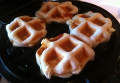 Biscuit Pizza Pockets in the Waffle Iron from A Slob Comes Clean
