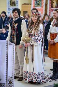 Ukrainian Wedding...  Looks sortof like my own baba and gido's wedding :)