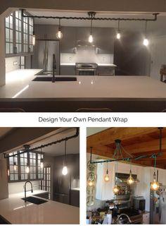 5 Pendant Light Wrap a pipe or bar modern by HangoutLighting