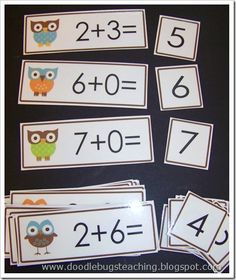 Great idea for math station to start the year - make flash cards with clip art incorporating class theme (starsa0
