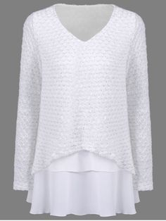 GET $50 NOW   Join RoseGal: Get YOUR $50 NOW!http://www.rosegal.com/sweaters/chiffon-patchwork-knitwear-873762.html?seid=948764rg873762