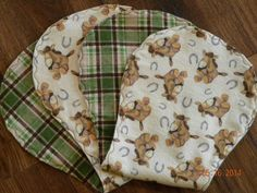 Set of 2 cotton flannel baby burp cloths Horse and by DaniMadeIt4U