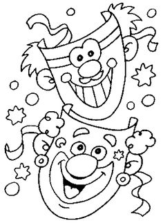8 Ausmalbilder Karneval Ideas Coloring Pages Carnival Coloring Pages For Kids