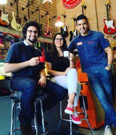 #cafedas18 com a família Eubank. Obrigado pela visita @felipeeubank e @caroleubank #clubegaragem