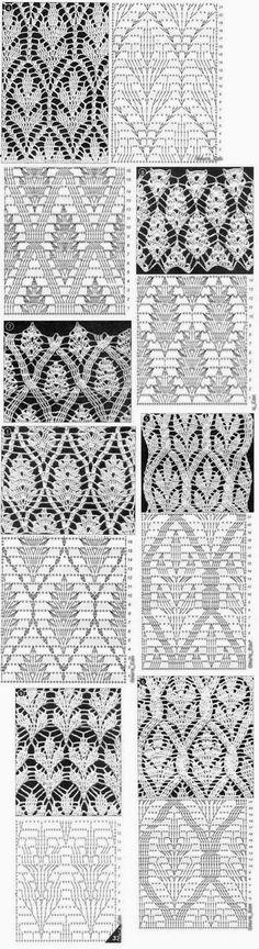 TRICO y CROCHET-madona-mía: Gráficos de puntos (Crochet ) ganchillo-.............F