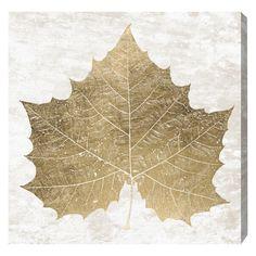 Oliver Gal Sycamore Gold Leaf Canvas Wall Art @Zinc_Door
