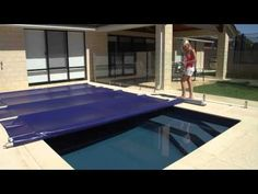 EZ-Cover manual swimming pool safety cover, DIY installation - YouTube