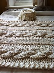 Ravelry: Cable Knit Blanket pattern by Knitting Revolution