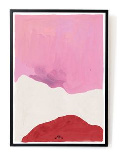 Pink white and red art print